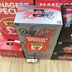 "30 Cans of Diet/Regular/Zero Coke for £7 in Poundworld as ""Managers Special"""