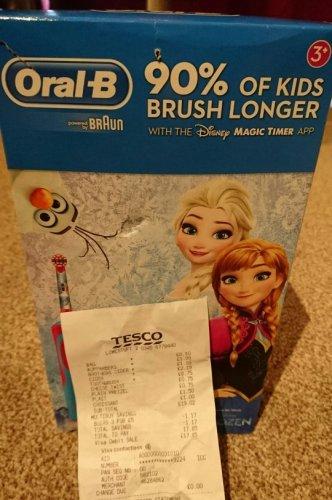 OralB Stages Power Kids Frozen or Star Wars £8.75 EA @ Tesco Lowestoft