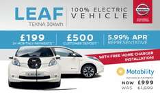Nissan Leaf Tekna 30KW £5276/2years PCP Deal @ Chorley Nissan