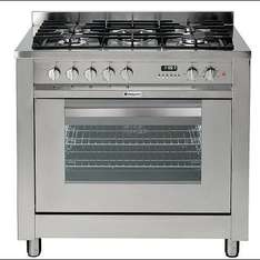 Hotpoint Ultima Dual Fuel Cooker with Electric Grill and Gas Hob EG900X S - £144 @ Tesco Direct