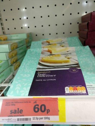 Taste the Difference Tarte au Citron 480g 60p @ Sainsbury's