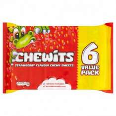 6 pack of strawberry chewits just 50p rrp 35p for 1 pack at poundstretcher