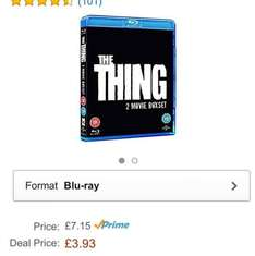 the thing double movie box set £3.93 prime / £5.92 non prime from Amazon