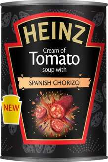 Nice & Spicy !!!   -  Heinz Cream of Tomato Soup with Spanish Chorizo  &  Heinz Cream of Tomato soup with fiery Mexican spices 400g (Half Price Now 59p) @ Waitrose