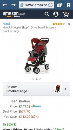 Hauck shopper shop 'n drive travel system. Amazon lighting deal