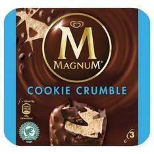 3 pack magnum cookie crumble ice cream £1.63 in sainsbury's