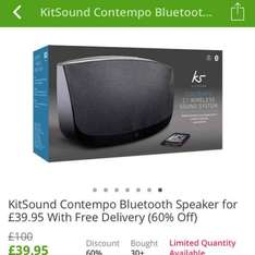 Kitsound Contempo Bluetooth speaker £39.95 delivered at Groupon