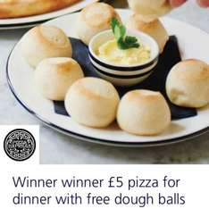 Buy a £5 pizza & get free dough balls - O2 priority customers only