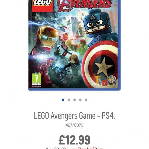 Lego avengers ps4 - £12.99 @ Argos