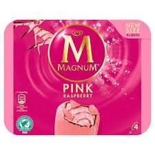 Sainsbury's instore 4 pk Magnum Pink Raspberry - 75p