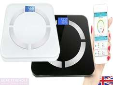 Smart Bluetooth body scales (iOS and Android app) eBay /  beautywhole  £16.99 free p&p