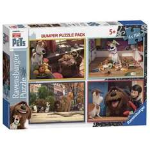 secret life of pets 4 x 100 piece puzzle set £4.25 Tesco