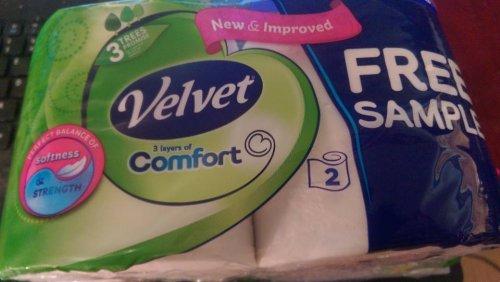 Velvet Comfort free sample with Ocado order