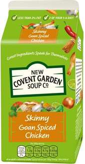 New Covent Garden Skinny Tomato, Vegetable & Lentil Soup (600g) was £2.00 now £1.00 @ Sainsbury's