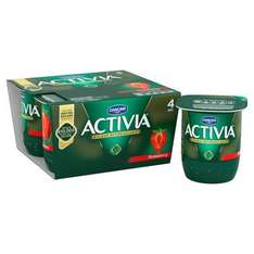 Various Danone Activia varieties 4 x 125g reduced from £2 to £1.00 at Tesco but there is also 50p cashback via Quidco Clicksnap or Checkoutsmart making them 50p