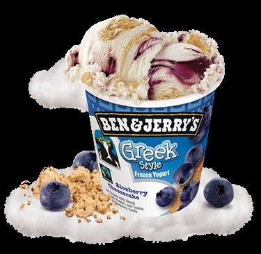 Ben & Jerry's Greek Style Blueberry Cheesecake Frozen Yogurt 500ml (was £4.50) now £2.50 ASDA
