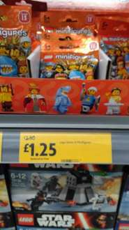 Lego Minifigures Series 15 £1.25 instore @ Morrisons