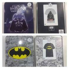 Star Wars & Batman T-Shirt in Collectors tin NOW £5 instore @ Chester Primark