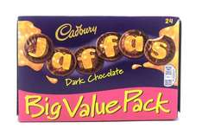 24pack of dark chocolate Cadburys Jaffa cakes 39p instore at Heron foods Hull