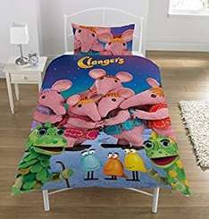 Clangers bedding Single Duvet set  £7.18  (Prime) / £11.93 (non Prime) Sold by Coolest Bargains and Fulfilled by Amazon