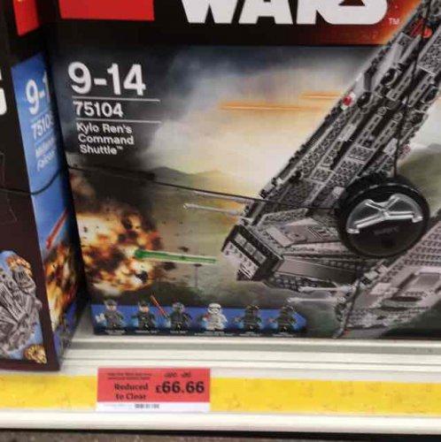 Lego 75104 Kylo Ren shuttle, £66.66 instore @ Sainsbury's