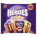 Cadbury 20 Piece Family Pack 50p at Morrisons instore - Was £3.47