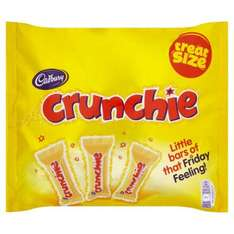 Cadbury Crunchie 12 Treat Size Pack down to 50p at Morrisons instore -  Was £1.50