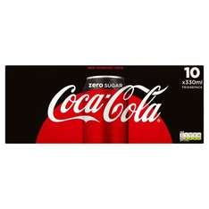 Coke Zero Cans 10 pack for £1.49 instore at Fulton Foods