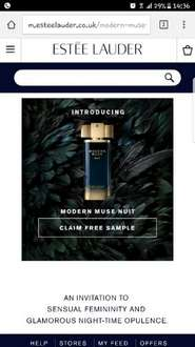Free Estee Lauder Modern Muse Nuit perfume sample @ Estee Lauder