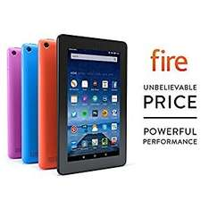 "Amazon Fire Tablet 7"" 16GB Black (PRIME users only) for £40.38"