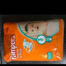 16 pampers size 3 nappies for £1 in Poundworld