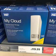 WD My Cloud 3TB Hard Drive, Tesco instore for £119.99