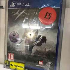 Middle Earth: Shadows of Mordor PS4 £5 Sainsbury's instore