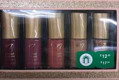 no7 pack of 5 nail varnishes gift set @ boots in store - £3.60