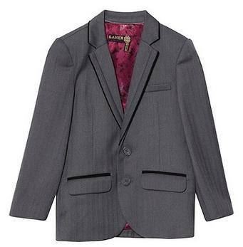 Baker by Ted Baker Boy's grey Baker Best' suit jacket Was £57.00 Now £22.80 at Debenhams