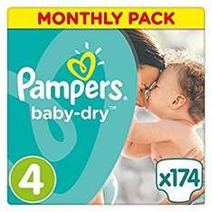 Pampers babydry Size 4 (174) for £14.50 via Amazon (Prime Exclusive)