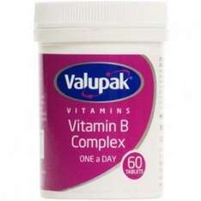 Valupak Vitamin B Complex 60 capsules 30p Lloyds pharmacy online