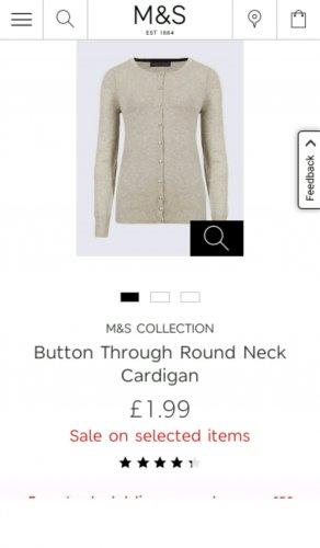 Button Through Round Neck Cardigan @M&S