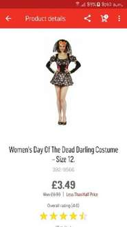 Day of the Dead Womens costume sze 12 only 3.49 @ Argos