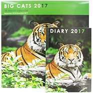 2017 Calendars Massive Savings,  Up to 88% Discount @ The Works (prices start at £1, Big Cats Calendar + Diary £1.50)