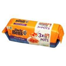 Uncle Bens Rice Time Multipack Sweet And Sour 3 Pack 900G £1.99 @ Tesco
