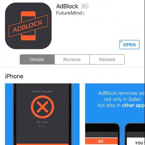Free @ AppStore AdBlock by FutureMind - Normally £1.49