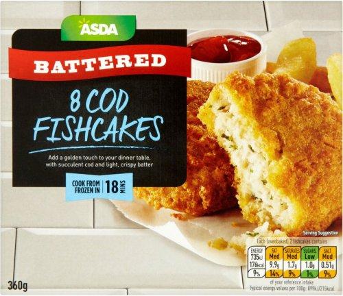 ASDA Battered Cod (45% Minced Cod) Fishcakes (8 per pack - 360g) ONLY £1.00 @ Asda