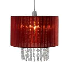 Red voile droplets light shade, was £19.99 now £6.99 @ Argos