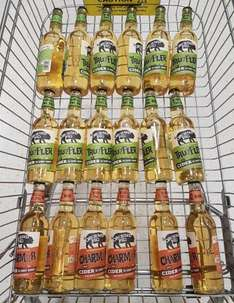 Orchard Pig Cider, 59p or 66p per bottle at Tesco or Waitrose or Morrisons with cashback