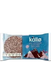 Kallo Milk Chocolate & Coconut Rice Cakes 3 packs for £1 @ Heron