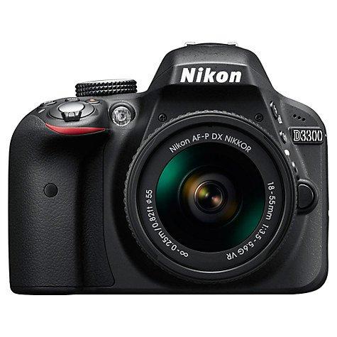 Nikon D3300 Digital SLR Camera with 18-55mm VR Lens £319 @ John Lewis