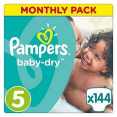 Pamper size 5 nappies  288 for £11.65 / 3.8p each for American Express card users with code @ Amazon