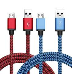 Premium Nylon Braided Micro USB Cable 2 Pack £4.49 prime / £8.48 non prime @ Sold by BeneStellar Inc and Fulfilled by Amazon