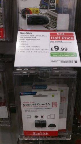 32GB Dual USB Flash Drive 50% off £9.99 @ Currys